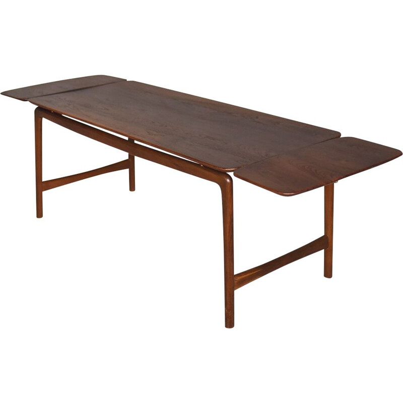 Vintage Teak Danish Coffee Table by Peter Hvidt & Orla Mølgaard-Nielsen for France & Daverkosen, 1950s