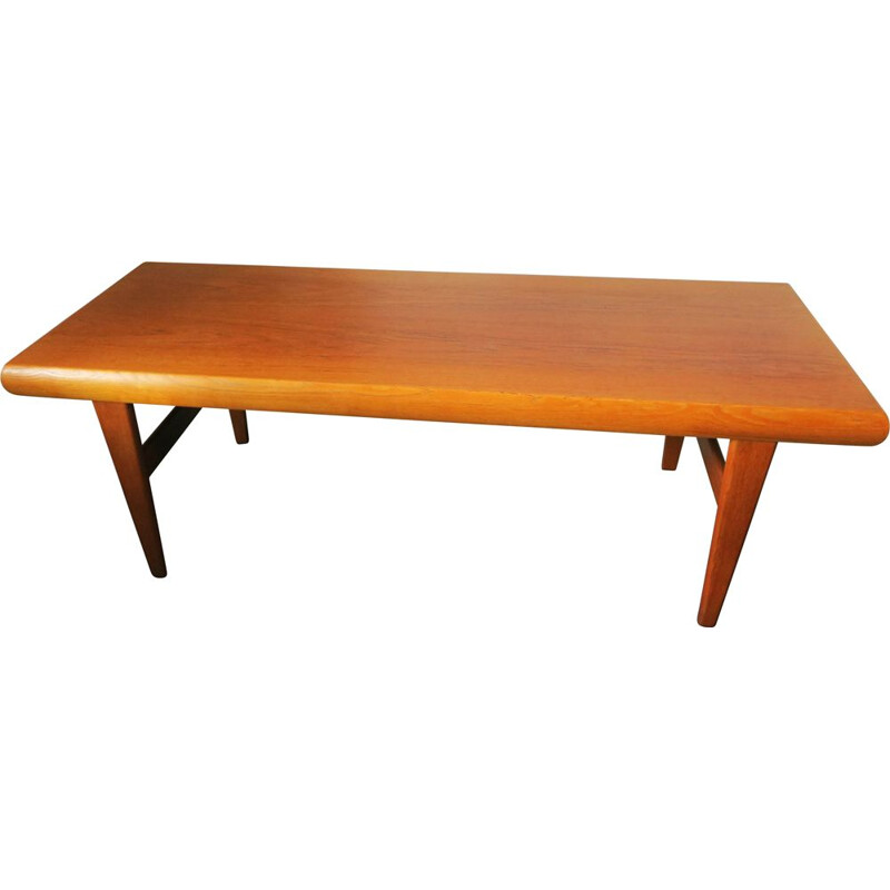Vintage multifunctional teak coffee table by Johannes Andersen for Trioh, 1960s