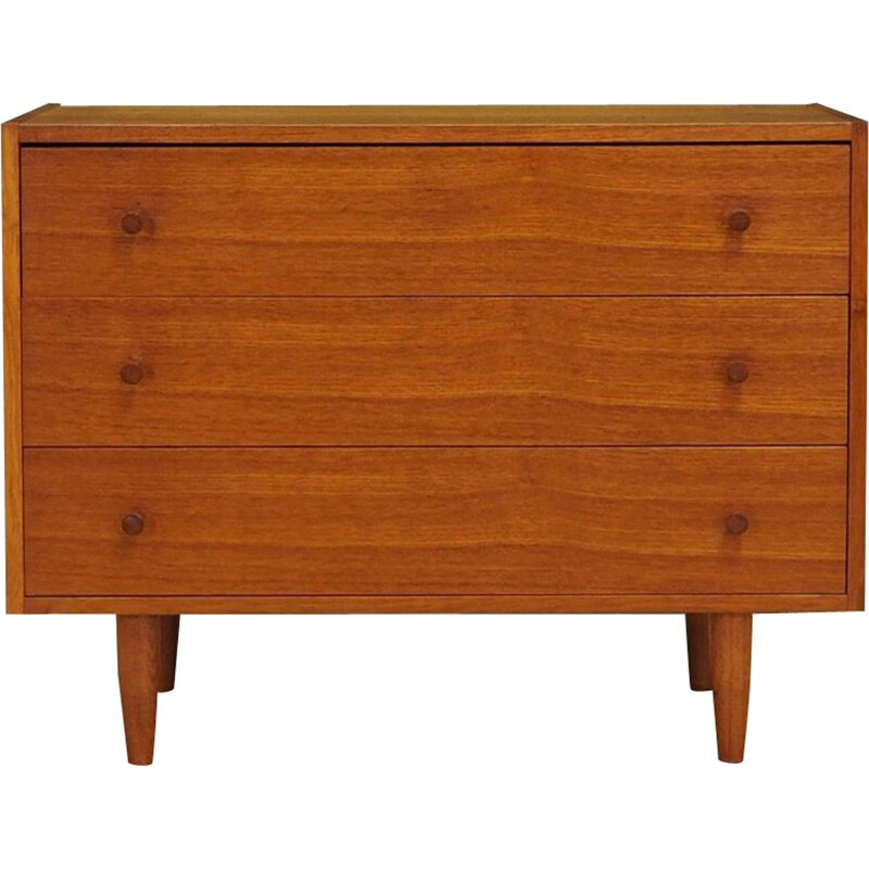 Vintage Danish chest of drawers in teakwood 1960s