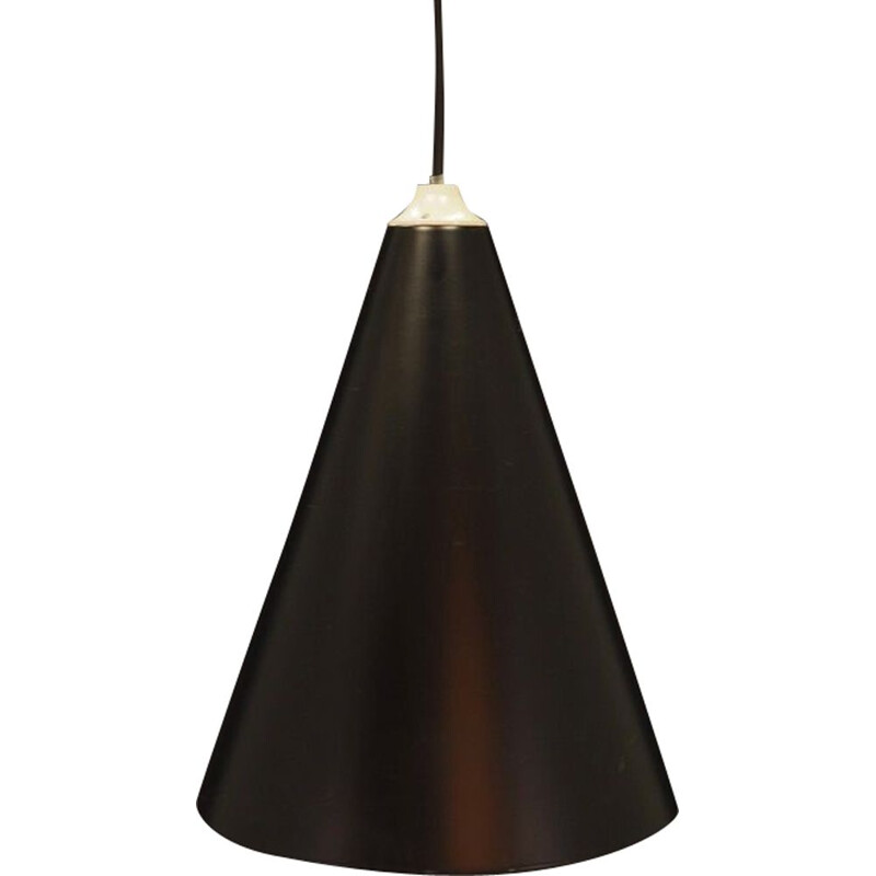 Vintage pendant light in black color, Denmark, 1970s