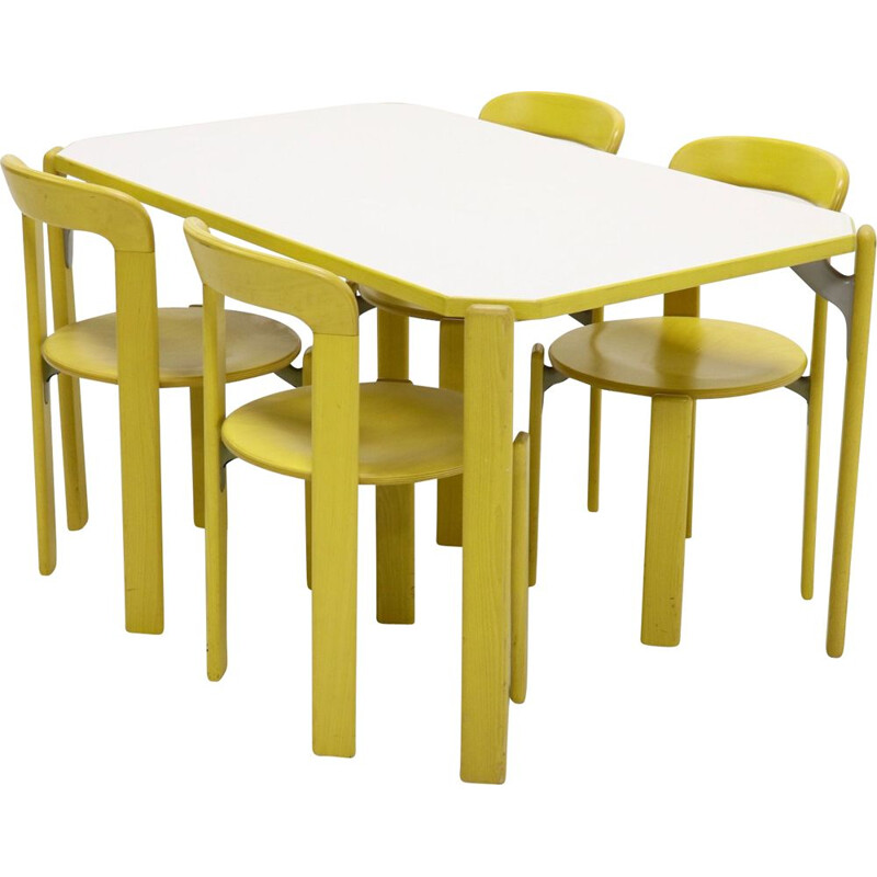 Vintage dining set by Bruno Rey for Kusch & Co Switzerland 1970s