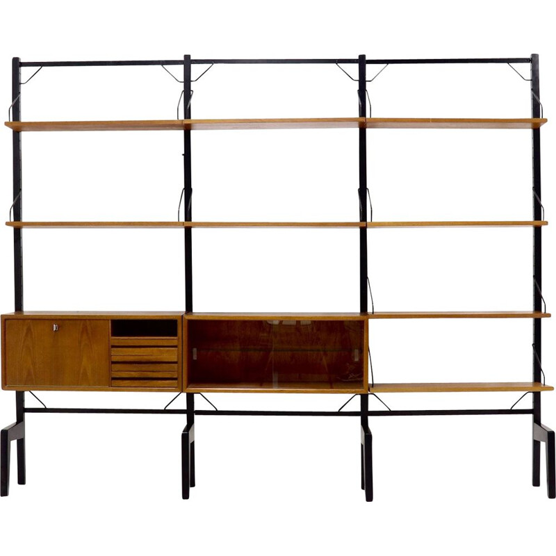 Vintage free standing teak royal System Wall Unit by Poul Cadovius, 1960s