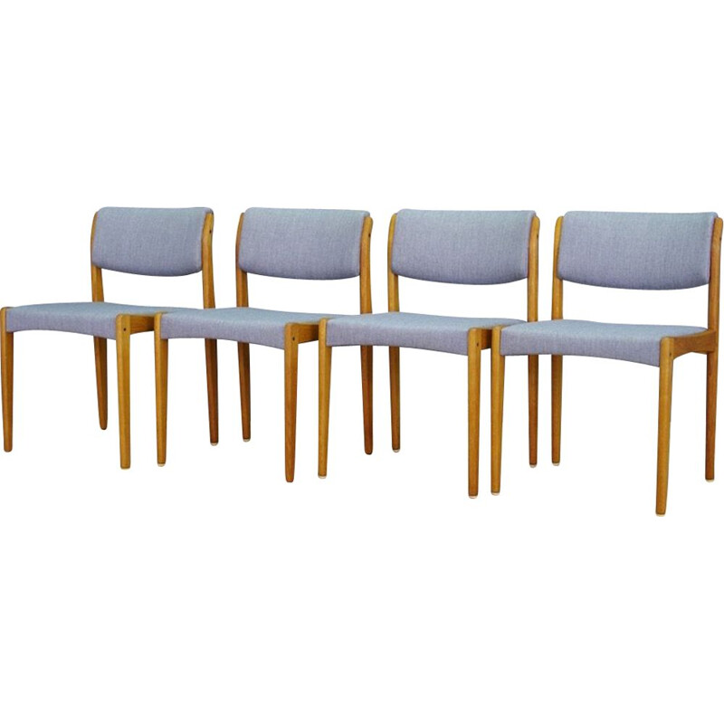 Set of 4 vintage danish chairs by Henry Walter Klein for Bramin in ashwood 1970s