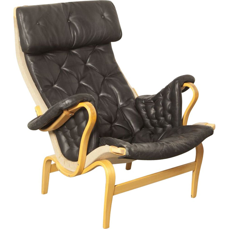 Vintage Pernilla 69 easy chair by Bruno Mathsson for DUX