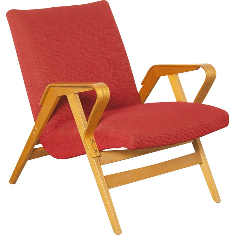 Vintage armchair model 24-23 by František Jirák for Tatra Nabytok