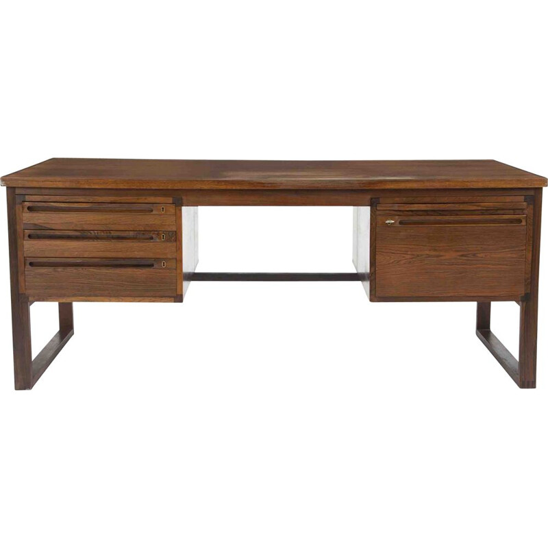Vintage rosewood desk with slide structure