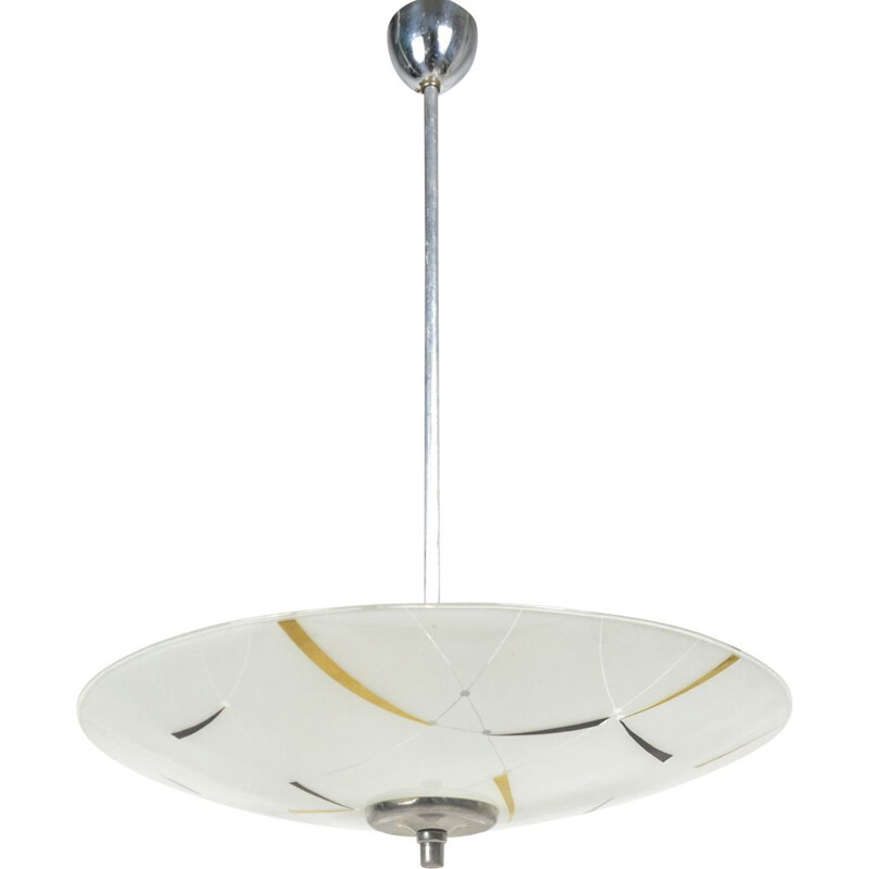 Vintage pendant light, Czechoslovakia, 1960s