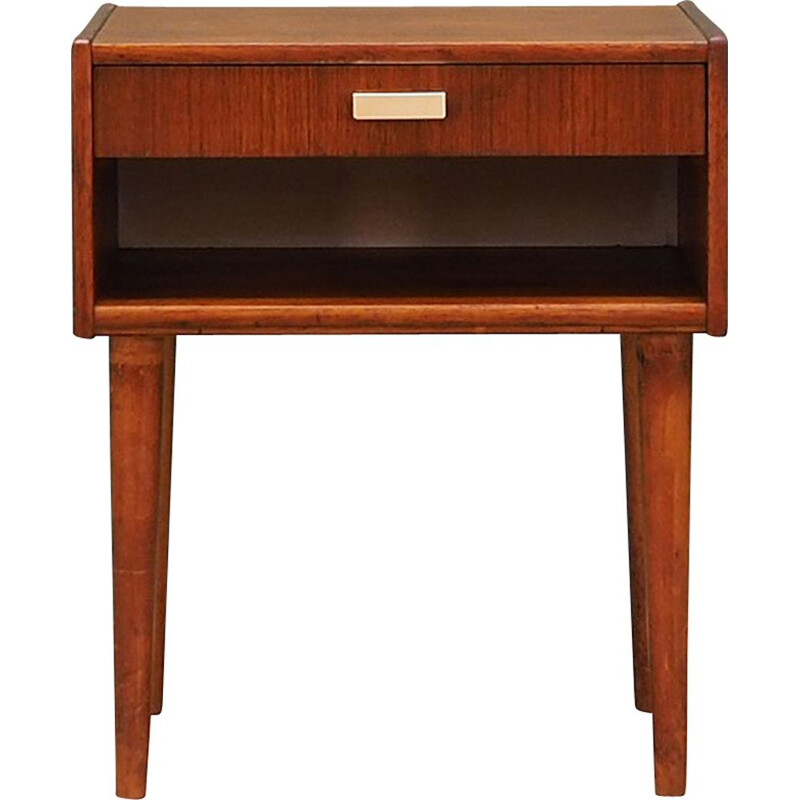 Vintage bedside table in teak veneer, 1960-1970