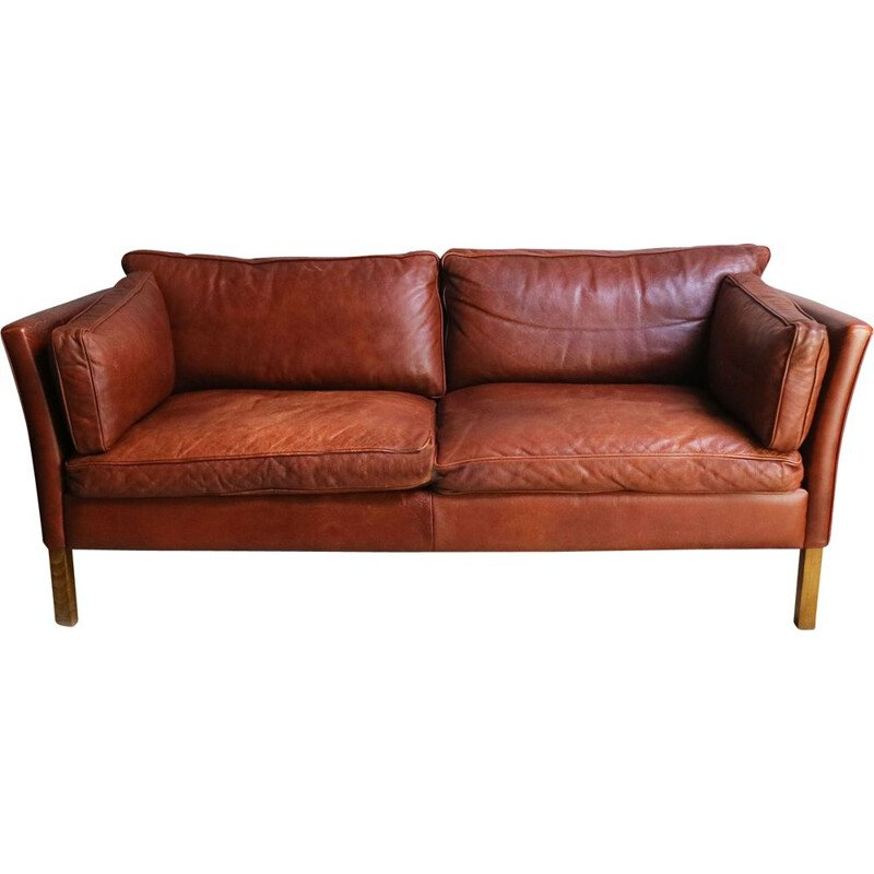 Vintage Stouby Danish large 2 seat sofa, 1970