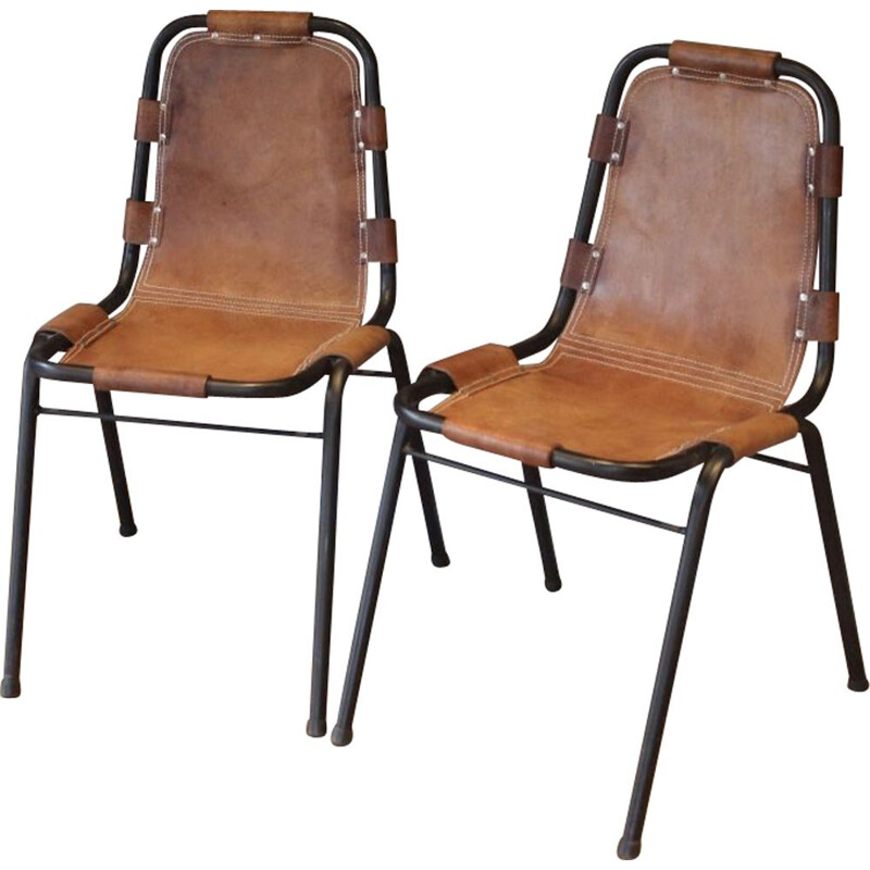 "Reissues of chairs used by Charlotte Perriand at the ski resort ""Les Arcs"""