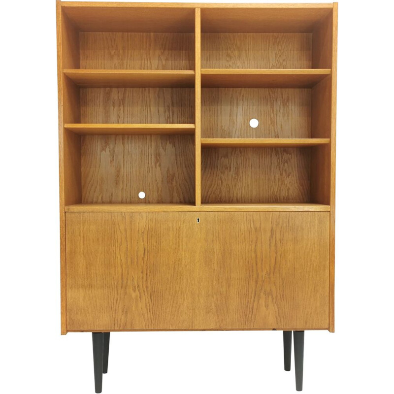Vintage Danish Bookcase Wall Unit Cabinet 1970