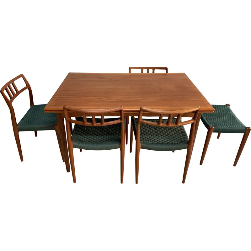 Vintage dining set by Niels O. Møller