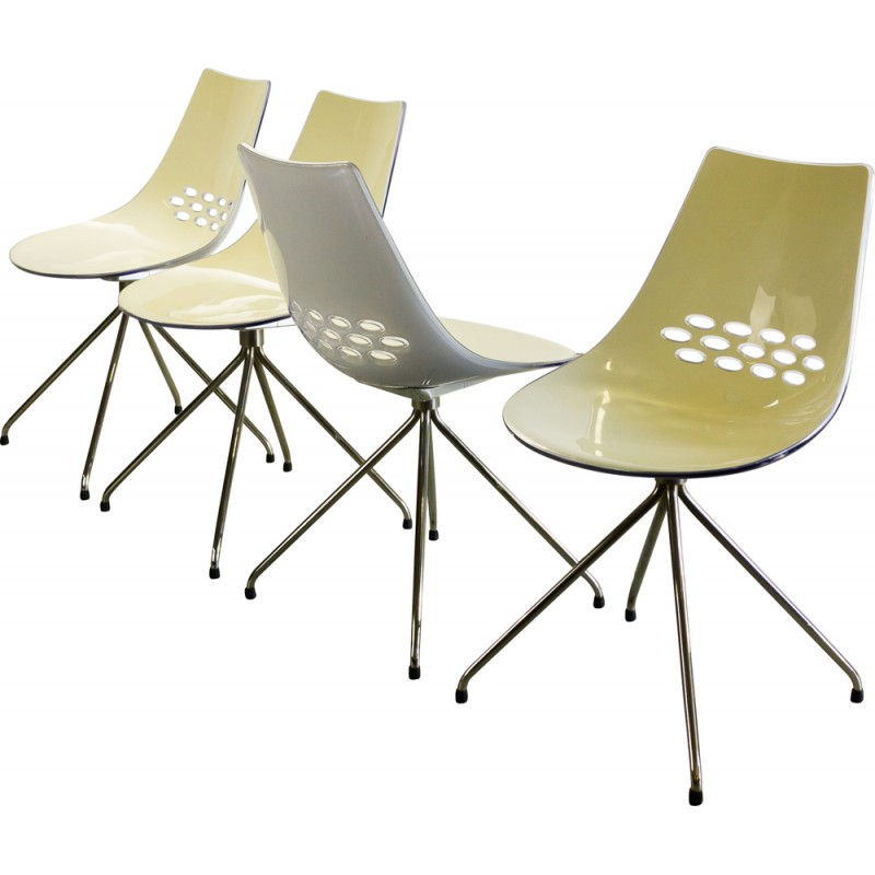 set of 4 jam two tone calligaris chairs archirivolto 2000s