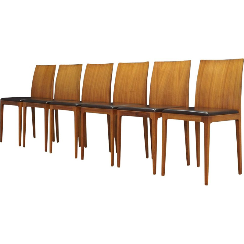 "Vintage set of 6 chairs ""Anna"" by Ludovic & Roberto Palomb for Crassevig"