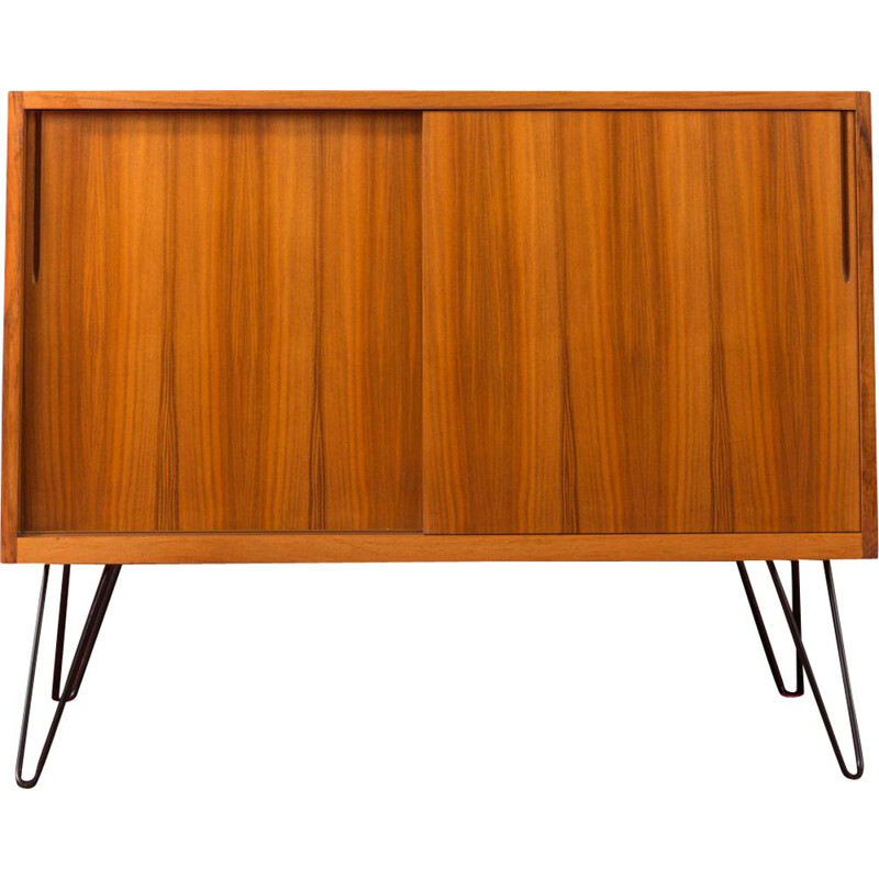 Vintage German walnut sideboard by 1950s