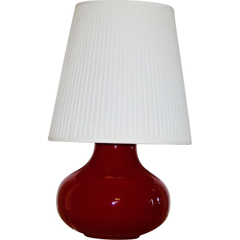 Vintage ball lamp by Vistosi for Murano in red glass