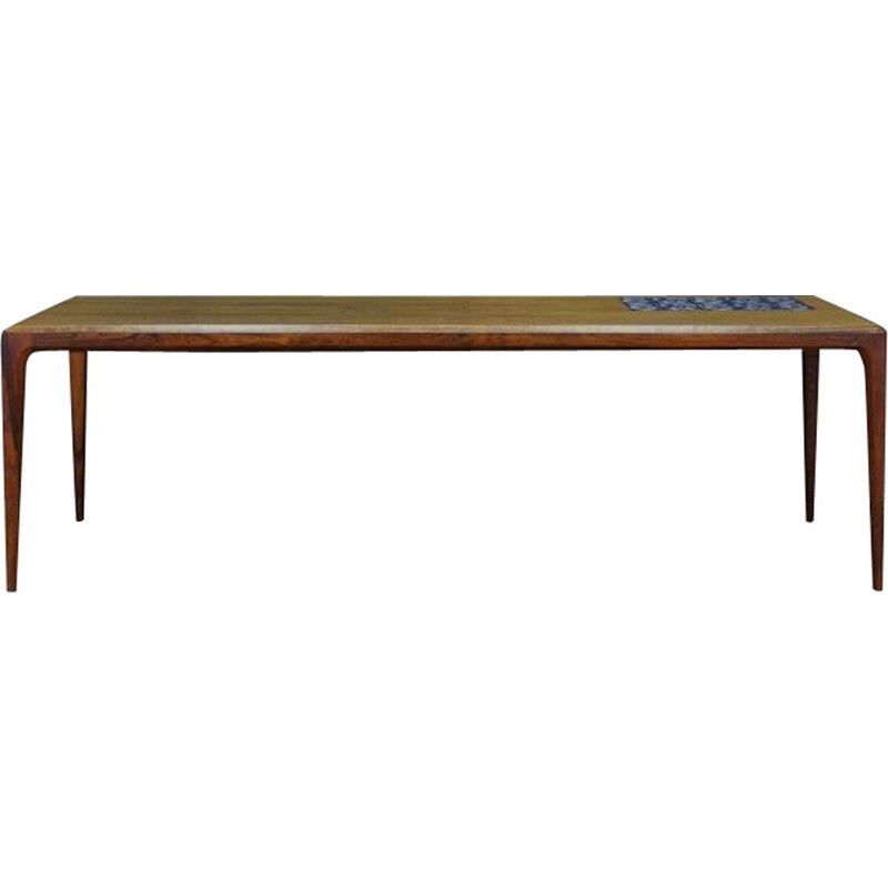 Vintage coffee table in rosewood by Johannes Andersen, Denmark,1960-70