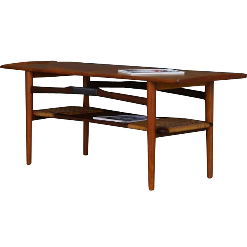 Vintage teak coffee table Danish design, 1960