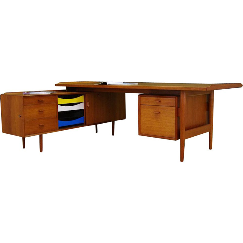 Vintage Desk in teak by Arne Vodder for Sibast, 1960