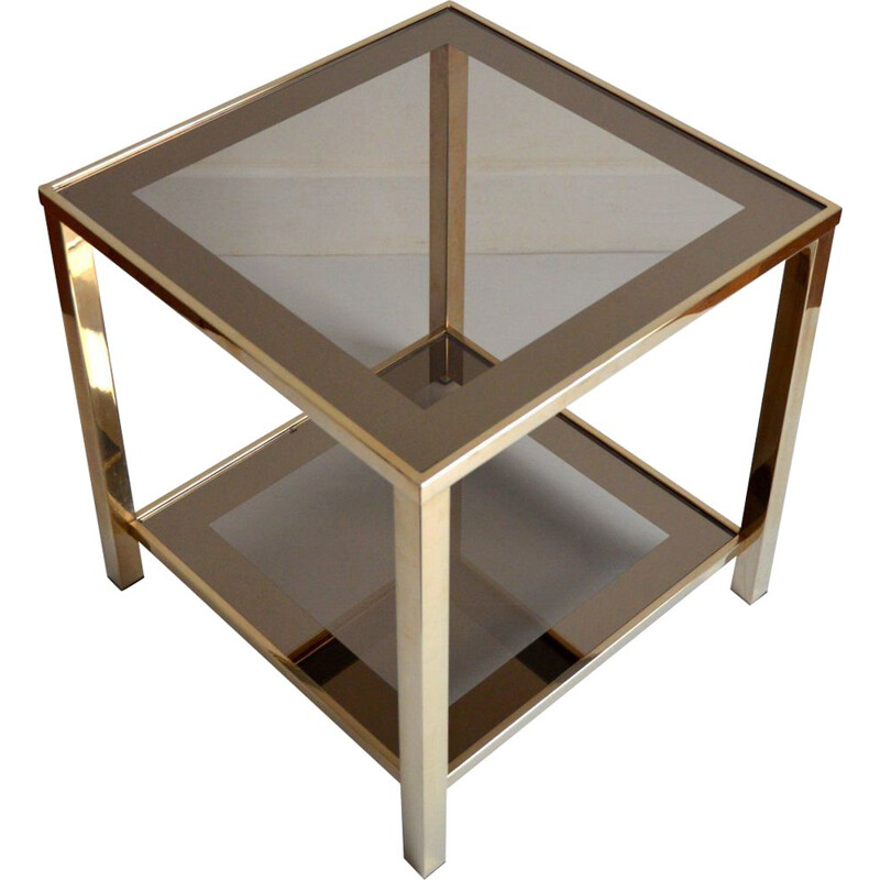 Vintage side table Belgo chrome 1970-1980
