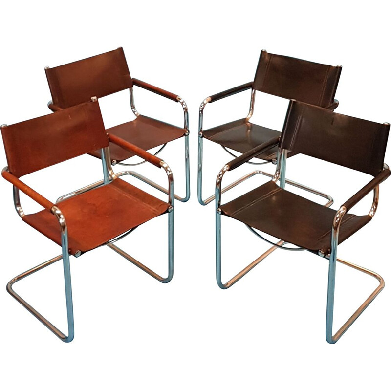 Set of 4 MG5 dining chairs by Mart Stam, 1930