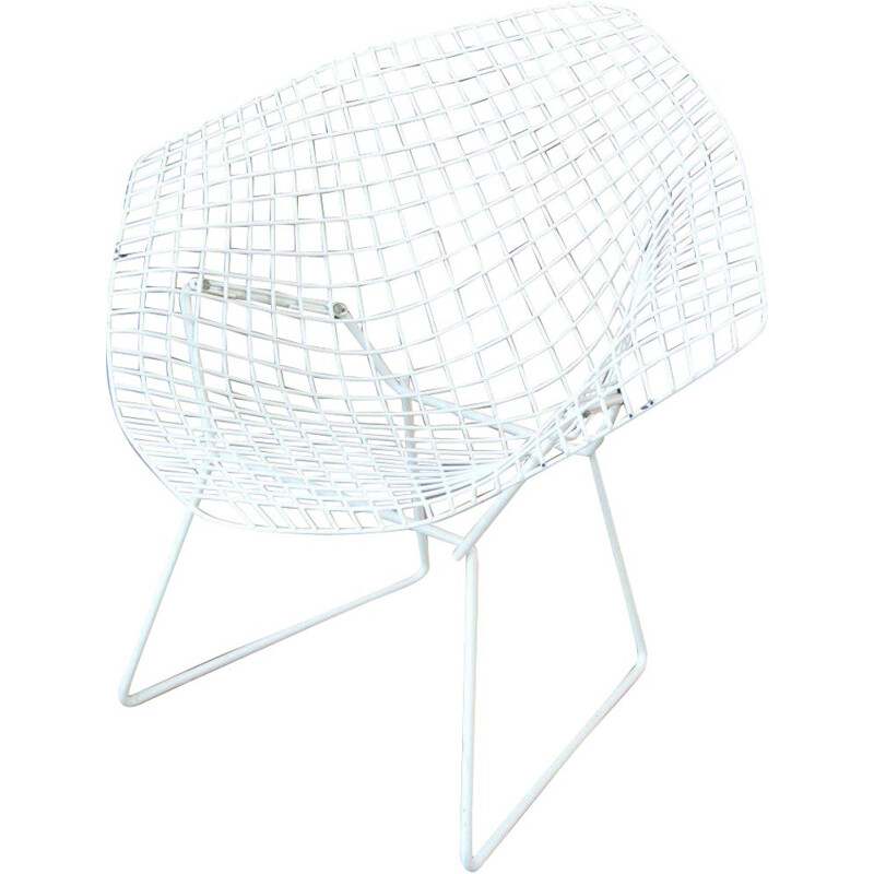 Vintage armchair Diamond Harry Bertoia for Knoll 1950