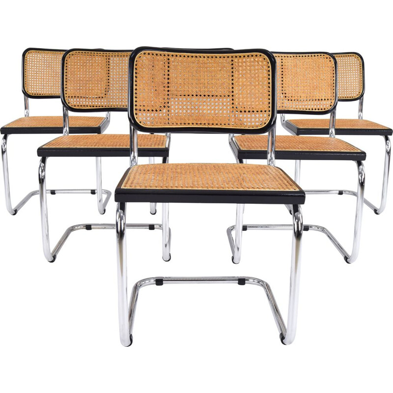 Set of 6 vintage Marcel Breuer B32 Cesca Chairs, Italy, 1970s