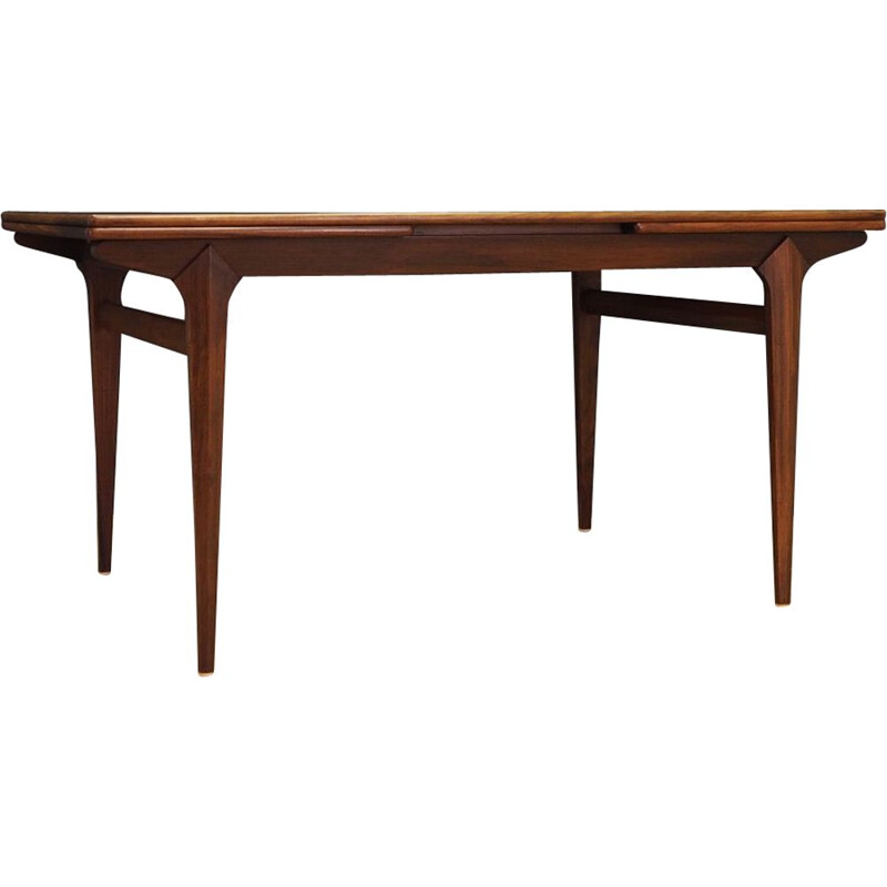 Vintage extentible rosewood dining table, 1960-1970s