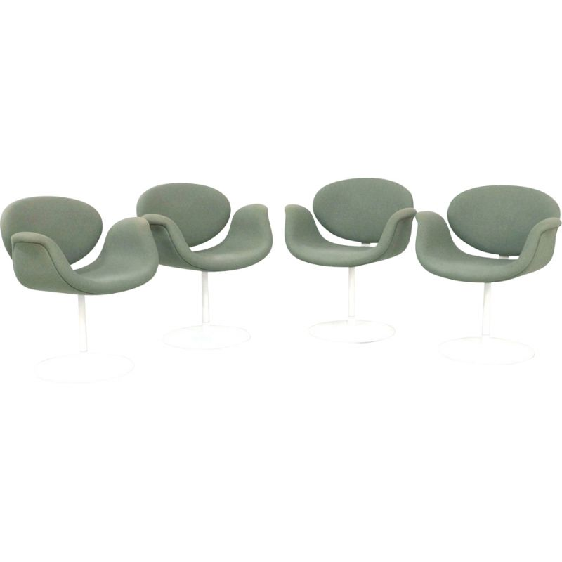 Set of 4 vintage Little Tulip Chairs by Pierre Paulin for Artifort