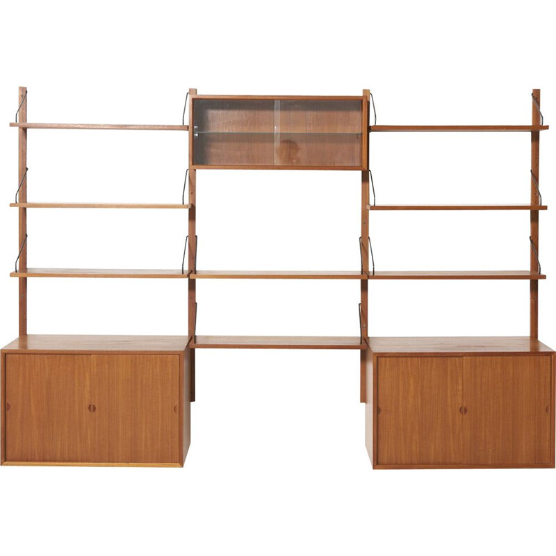 Vintage teak wall shelf by Poul Cadovius
