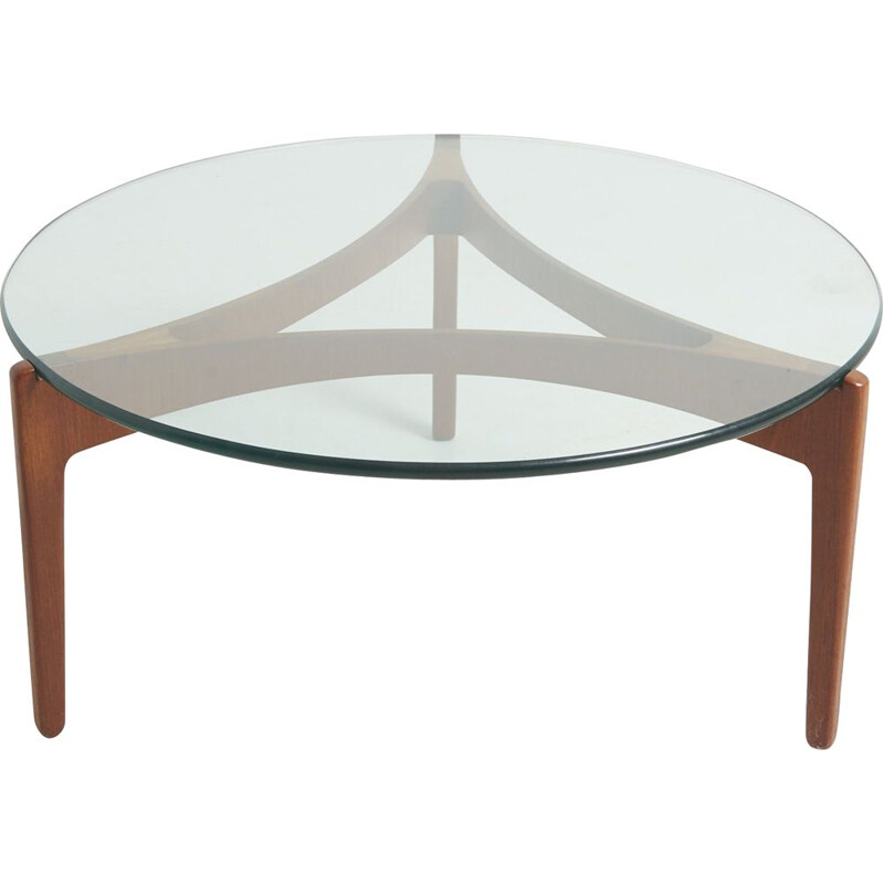 Vintage tripod coffee table by Sven Ellekaer for Christian Linneberg