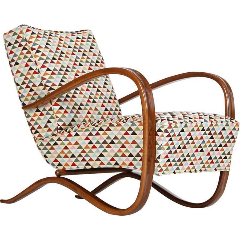 Vintage Lounge Chair H 269 by Jindřich Halabala for UP Závody, 1930s