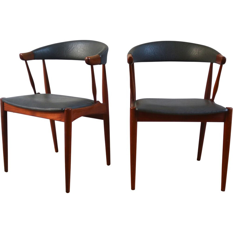 Pair of vintage Scandinavian teak armchairs by Johannes Andersen