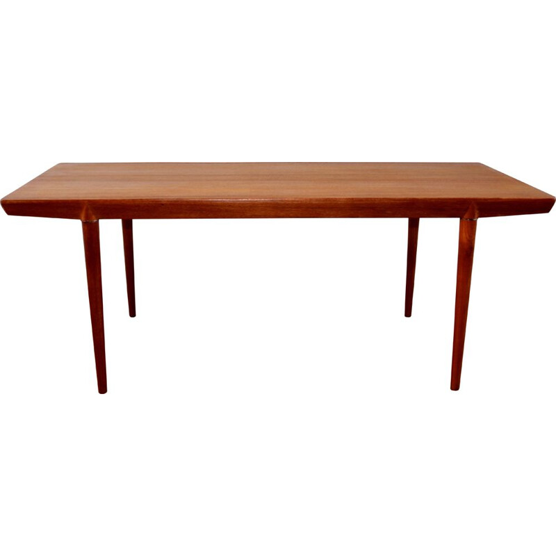 Vintage Scandinavian teak coffee table by Severin Hansen, 1960s
