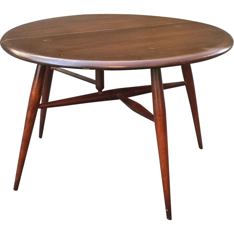 Vintage solid elm coffee table by Ercol, 1960s
