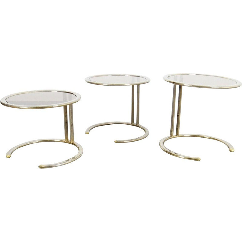 Set of vintage nesting tables, Czechoslovakia, 1970s