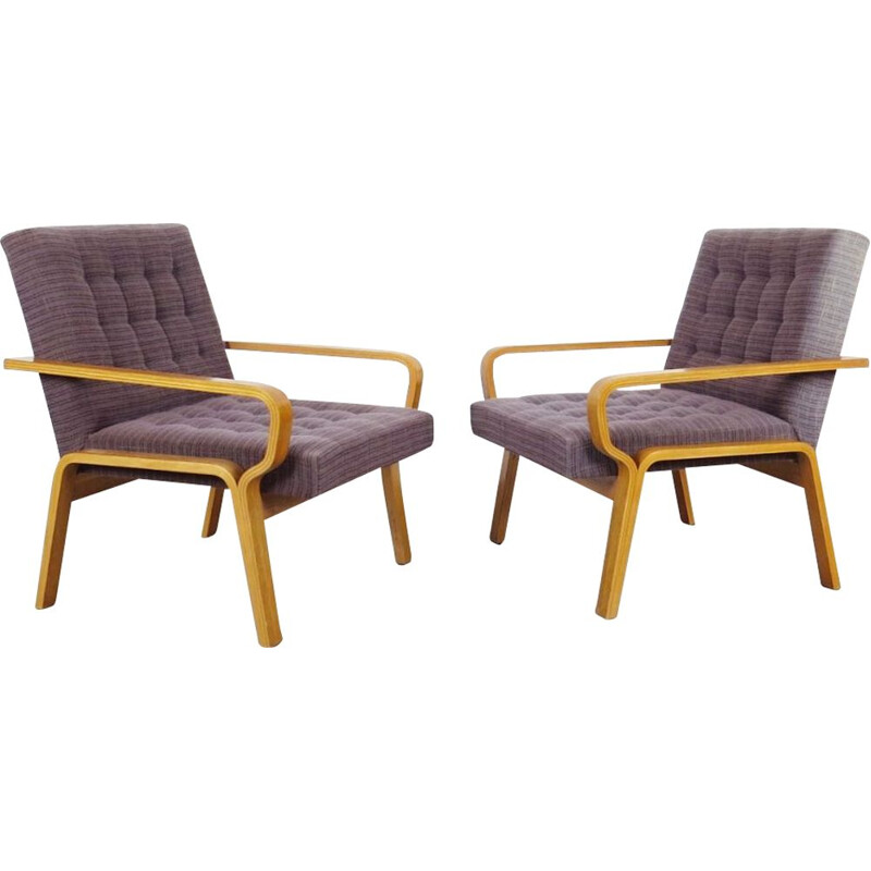 Set of vintage armchairs by Ludvik Volak, 1970s
