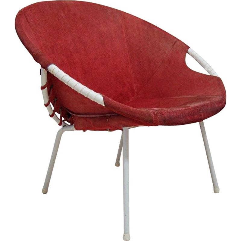 Vintage circle armchair by Lusch Erzeugnis for Lusch & Co, 1960s