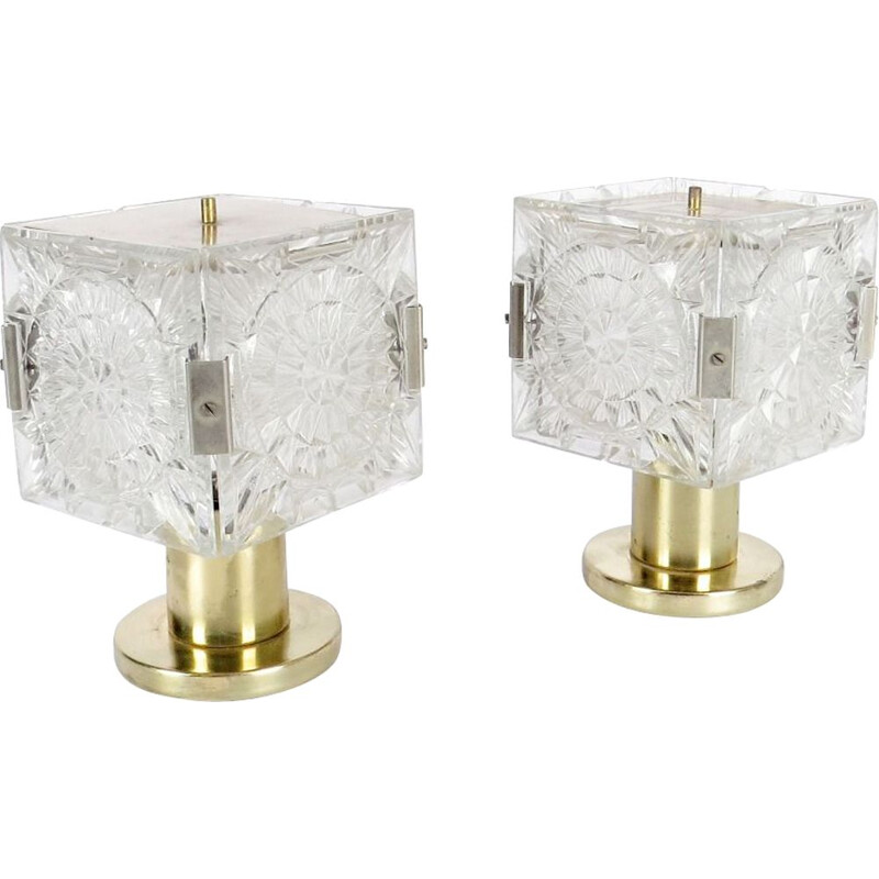 Pair of Vintage table lamps by Kamenicky Senov, 1970