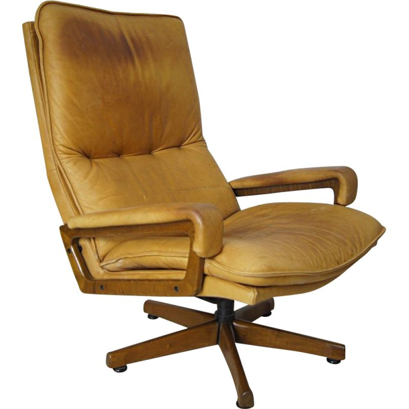 "Vintage ""King Chair"" by André Vandenbeuck for Strässle, 1970s"