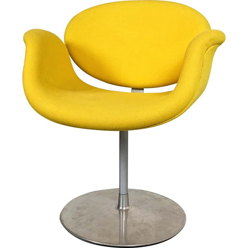 Vintage yellow Tulip chair by Pierre Paulin for Artifort, 1970s