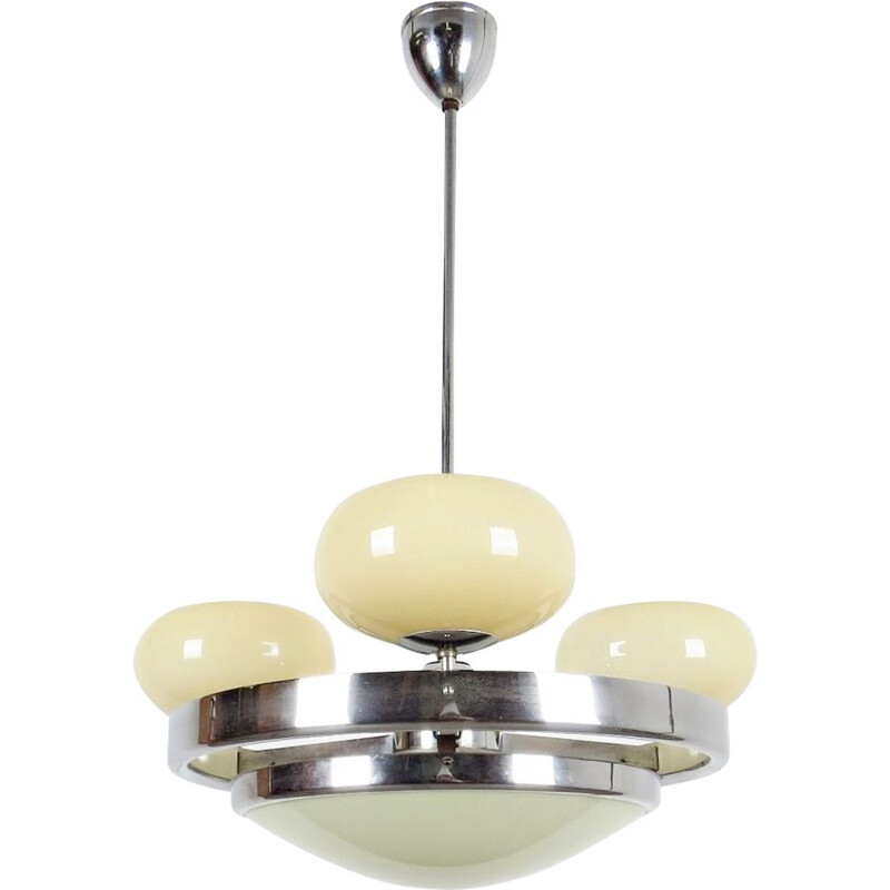 Vintage 3-ball chandelier, Czechoslovakia, 1930