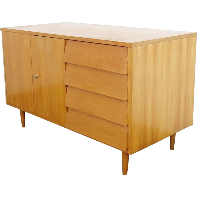 Vintage sideboard with drawers, Czechoslovakia, 1960