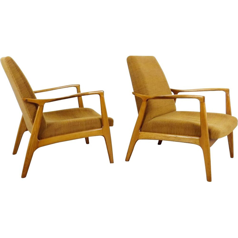 Vintage pair of armchair by ULUV, 1960