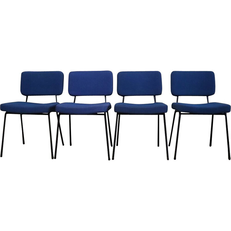 Suite of 4 vintage chairs by André Simard 1960 Airborne edition