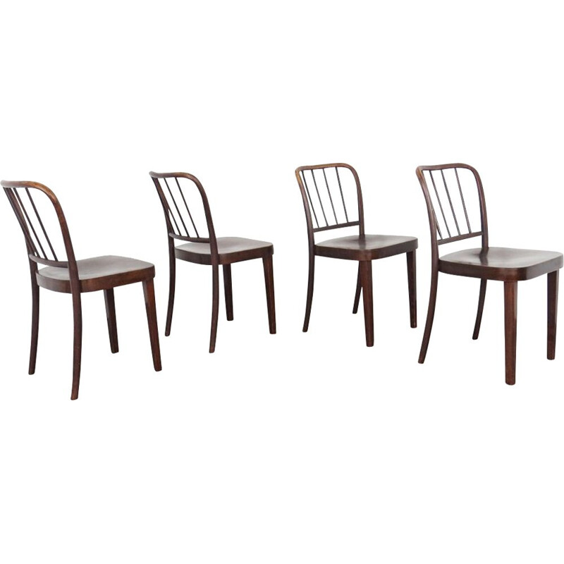 Set of 4 vintage dining chairs by Josef Hoffmann, 1960