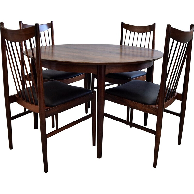 Vintage rosewood dining set by Arne Vodder