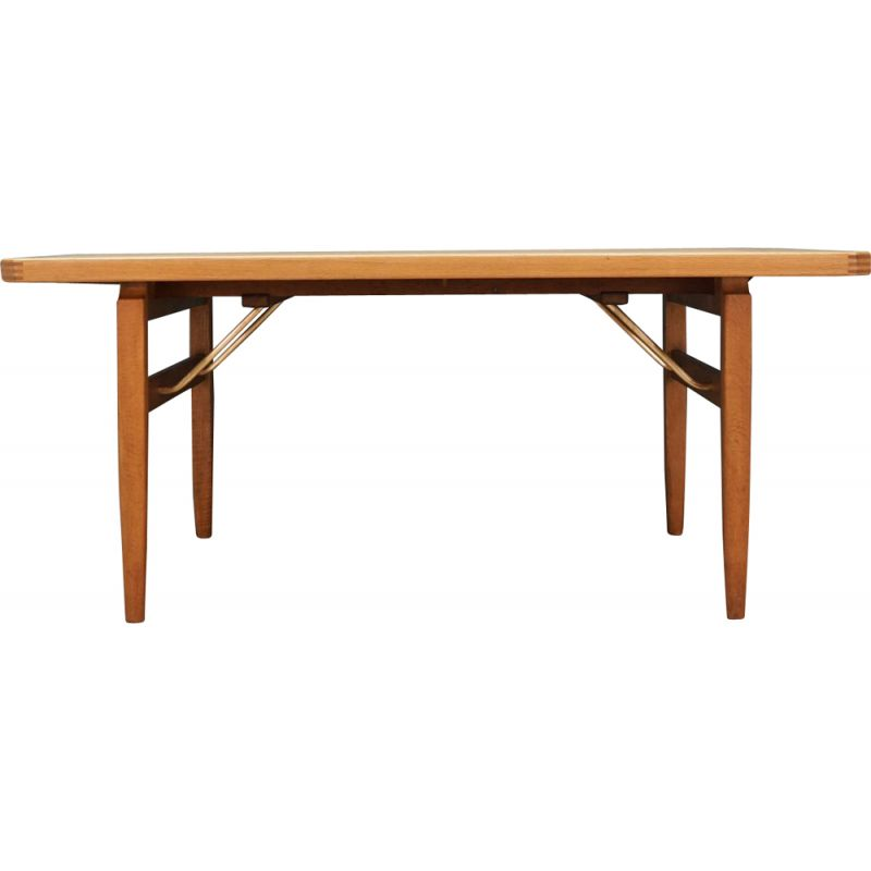 Vintage extendable ash wood dining table, 1960-70s