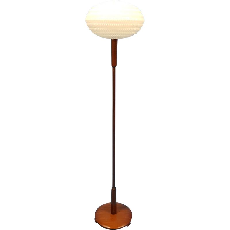 Vintage floor lamp with origami shade by Aloys Gangkofner