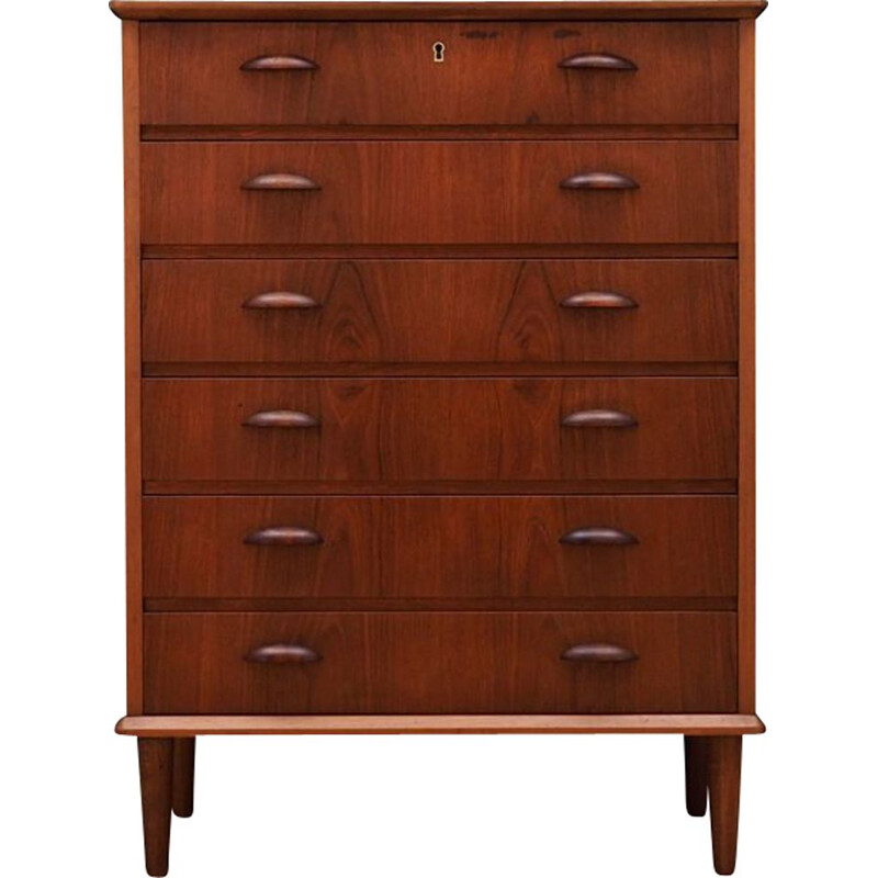 Vintage teak chest of drawers, 1960-70s